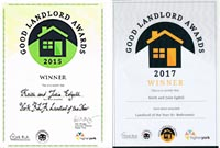 GOOD LANDLORD AWARDS CERTIFICATE 2014 2017